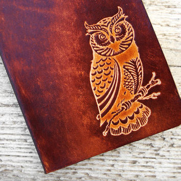 Genuine Leather Owl Travel Wallet