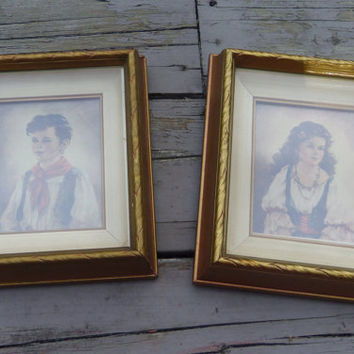 Elena and Chiko 1940s Prints Edward Gross & Co. Anne Allaben Period Shadow Box Frames