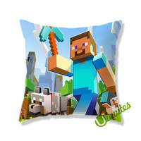 Minecraft Cover Square Pillow Cover