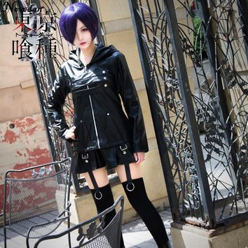 Tokyo Ghoul Touka Kirishima Cosplay Costume Kaneki Ken Japanese Anime Cosplay Costume Women Female Black Fighting Dress