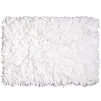 Fluffy Shag Rug - White$24.95