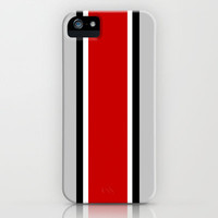 Ohio State Helmet Stripe iPhone & iPod Case by Timothy Davis