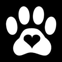 Paw Print Heart Love  Vinyl Car/Laptop/Window/Wall Decal
