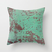 Copper Throw Pillow by cafelab