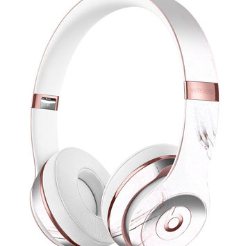 Pink 10 Textured Marble Full-Body Skin Kit for the Beats by Dre Solo 3 Wireless Headphones
