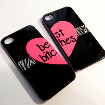 Best Bitches iPhone 4 cases  Black/Zebra by VanityCases on Etsy
