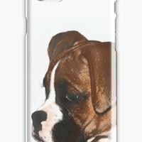 'Fawn boxer puppy' iPhone Case/Skin by ritmoboxers
