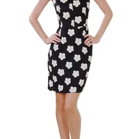 Jillian Floral Dress - Flower Print Fitted Shift - Humblechic.com