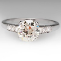 1.8 Carat Old European Cut Diamond Vintage Ring