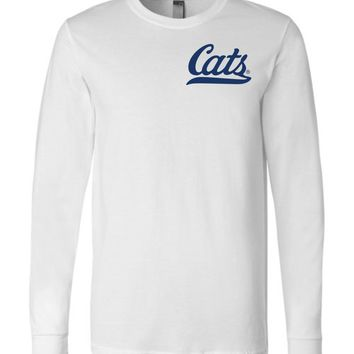 Official NCAA Venley University of Arizona Wildcats U of A Wilber Wildcat BEAR DOWN! Cats Baseball Tail Long Sleeve T-Shirt - 12UA-1-a