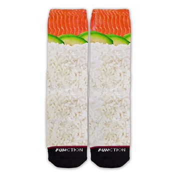 Function - Nigiri Salmon Avocado Sushi Fashion Sock