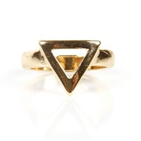 Gold Cut Out Triangle Ring