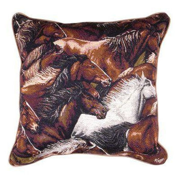 Horse Head Throw Pillow - One Side Design