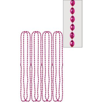 Metallic Pink Bead Necklaces 8ct