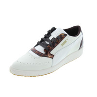 Puma Womens Sky Point Lo Leather Signature Casual Shoes
