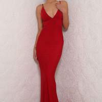 Celine Gown Red