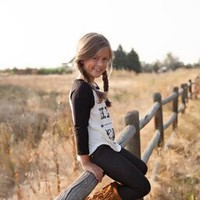 Girls Black Hello Y'all Baseball Tee