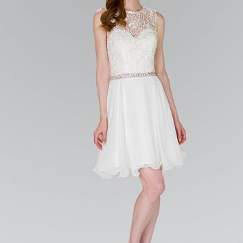 Short white formal dress   GS2410