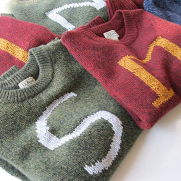 Custom Harry Potter House Sweaters made just for you - Your initial on a sweater - Monogram