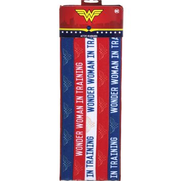 Licensed cool DC  Wonder Woman Elastic Active Stretchy Headbands 5 Pack Hair Accessory