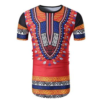 Tshirt Men Summer Fashion Brand Dashiki African Clothing Print Short Sleeve T Shirt Men harajuku O Neck T-shirt Tees Tops