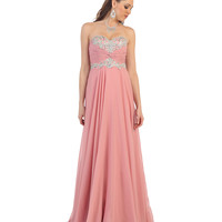 Dusty Rose Sweetheart Strapless Sequin Dress 2015 Prom Dresses