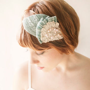 constellations  blue velvet bridal cap by whichgoose on Etsy