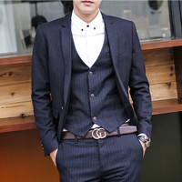 Slim Fit Wool Blended Men Blazer Jacket