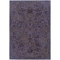 "Revival 3692E Oriental Purple-Beige Area Rug (5'3"" X 7'6"")"