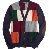 Patchwork Cardigan - Brooks Brothers