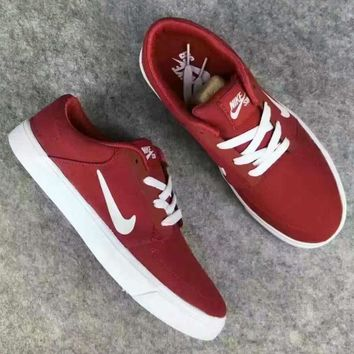 NIKE SBRABONALR Trending Fashion shoes Casual Shoes Sneakers Red white hook