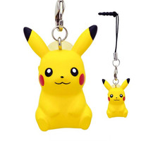 Pokemon Pocket Monsters Suction Cup Stand Cell Earphone Jack Plug (Pikachu)