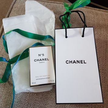 Chanel no 5 eau de parfum 50ML with gift bag and ribbon new and sealed