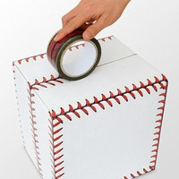 New Baseball Stitches Design Cellophane Adhesive Tape Funny Home Decor