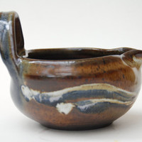 Medium Pottery Batter Bowl - 20 oz mixing Ceramic bowl -  Pottery Bowl all Handcrafted and thrown on the wheel by Elena Madureri