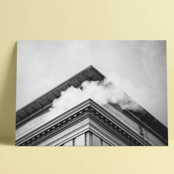 architectural print, architecture wall art, black and white photography, black and white building, building photography, instant digital art