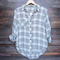 ivory and grey flannel shirt