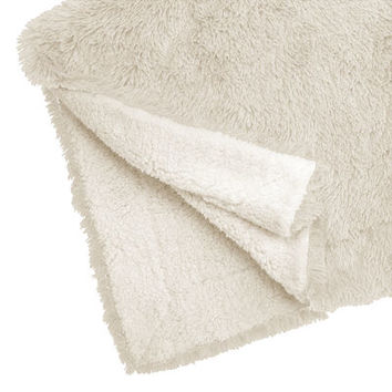 Ivory Shaggy Sherpa Throw