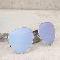 Quay Indio Sliver and Blue Aviator Sunglasses