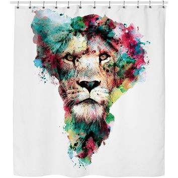 ROSC Lion -The King Shower Curtain