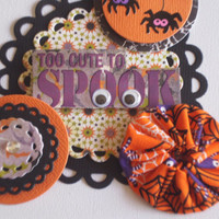 Handmade Halloween Scrapbooking Embellishments Set of 4