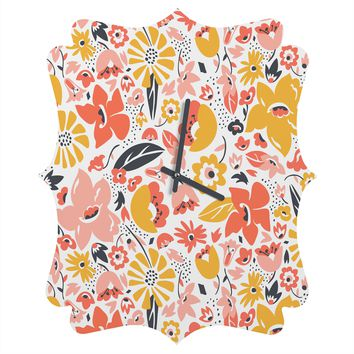 Heather Dutton Betty Quatrefoil Clock