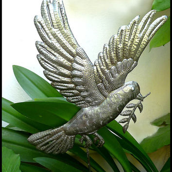 Metal Bird Plant Stake - Outdoor Garden Decor - Metal Art - Metal Plant Marker, Plant Stick, Haitian Art, Yard Art. Garden Markers - PS-1801