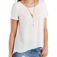 High-Low Chiffon Tee by Charlotte Russe