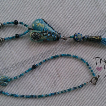 Blue Heart of the Sea Necklace