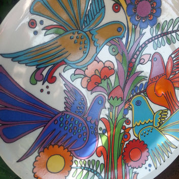 Retro 60s Villeroy and Boch Acapulco bread and butter plate.. designed by Christine Reuter in 1967.. made in Luxembourg