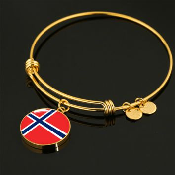 Norwegian Pride - 18k Gold Finished Bangle Bracelet