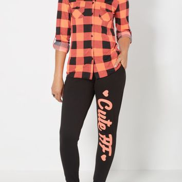 Cute AF Brushed Jogger | Printed Joggers | rue21