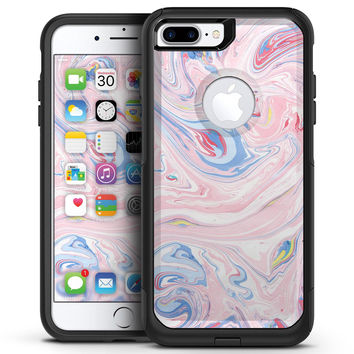 Marbleized Pink and Blue Swirl V2123 - iPhone 7 or 7 Plus Commuter Case Skin Kit