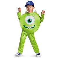 Disney / Pixar Monsters University Mike Classic Costume - Toddler/Kids (Green)